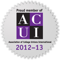 Proud Member of ACUI: Association of College Unions International 2012-13